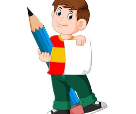 Cartoon illustration little boy vector