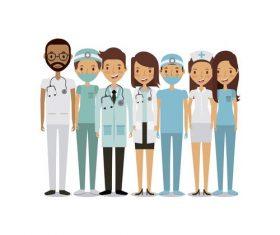 Cartoon nurse and doctor vector