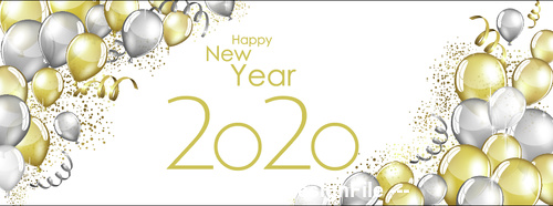 Celebrate 2020 new year banner vector