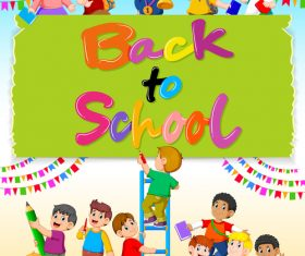 Celebrate back to school cartoon illustration vector