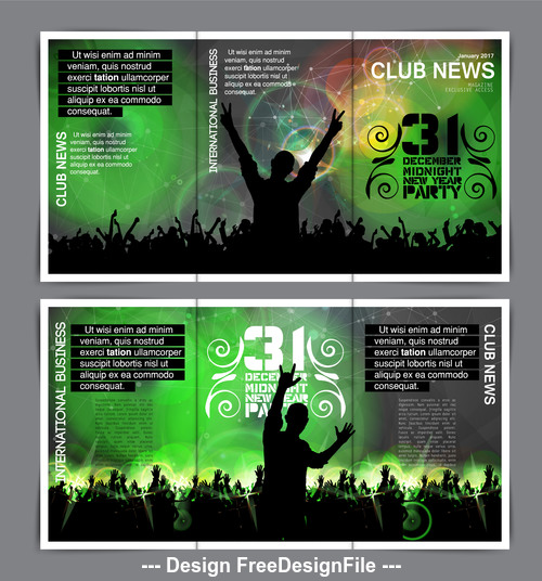 Celebration happy crowd green background vector