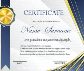 Certificate medal template vector