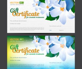 Certificate with flower background banner vector