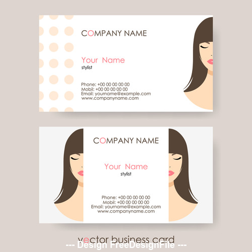 Character background business card design vector