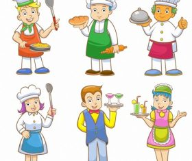 Child chef cartoon vector