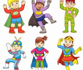 Childrens dress up cartoon character vector