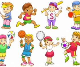 Childrens sports vector