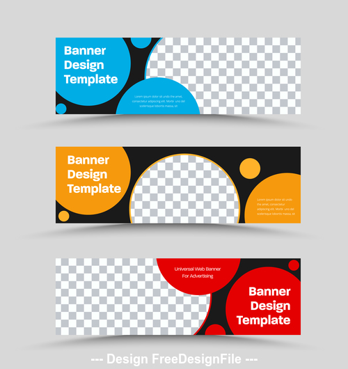 Circle color banner template design vector