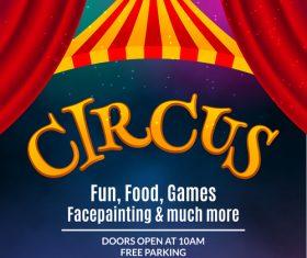 Circus show flyer vector