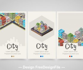 City vertical banners vector