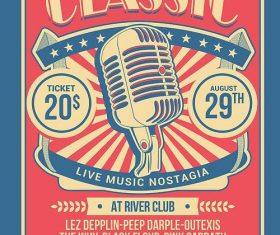 Classic Music Show PSD Flyer Template