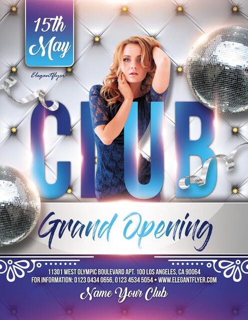 Club Party 2019 Flyer PSD template