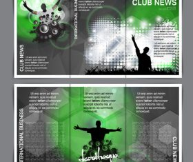 Club business template banner vector