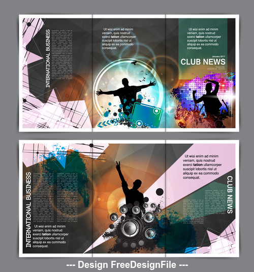 Club celebration brochure banner vector