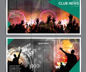 Club poster layout design vector