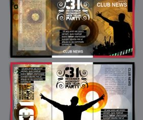 Club template design vector
