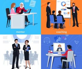 Coaching mentorship flat vector