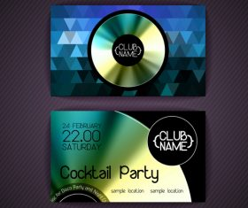 Cocktail party flyer vector