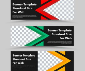 Color banner template design vector