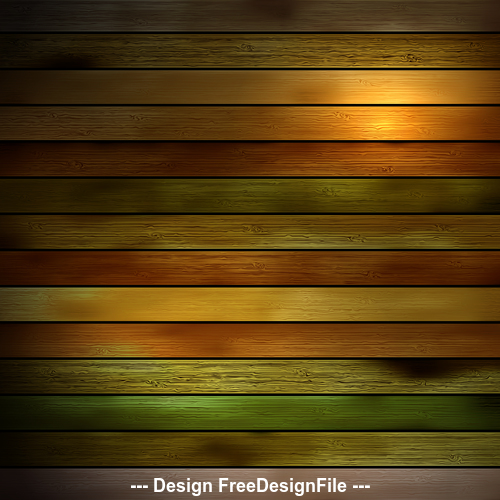 Color bright wooden boards design backgrounds vector