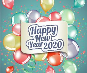 Color decoration 2020 new year illustration vector