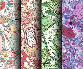 Color wallpaper seamless patterns vector