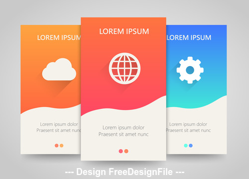 Colored vertical banners vector