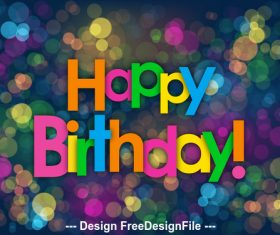 Colorful shiny background happy birthday vector 01