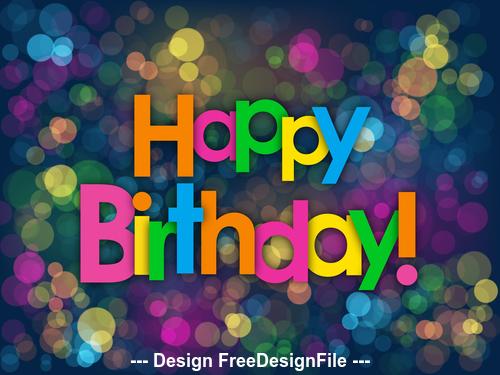 Colorful shiny background happy birthday vector 01