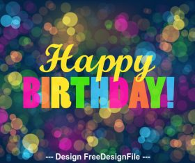 Colorful shiny background happy birthday vector 02