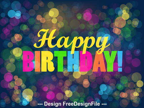 Colorful shiny background happy birthday vector 02