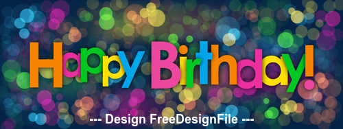 Colorful shiny background happy birthday vector 03