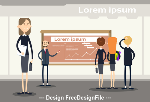 Company business introduction template illustration vector