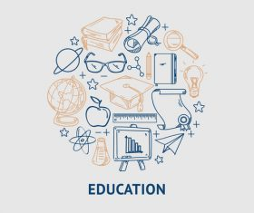 Concept education poster vector