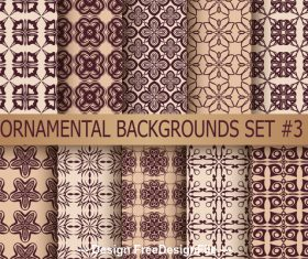 Counter-change patterns seamless background vector