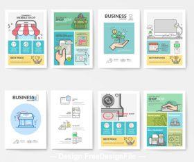 Creative business brochure template vector