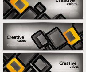 Creative cubes banner vector