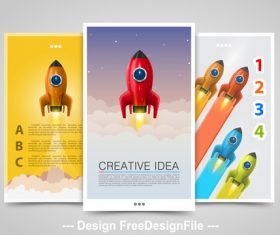 Creative idea vertical banners vector