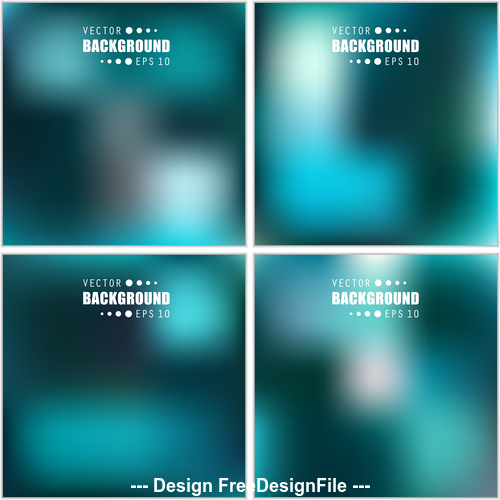 Cyan multicolored blurred abstract background vector
