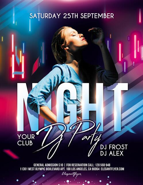 DJ Night PSD Flyer template