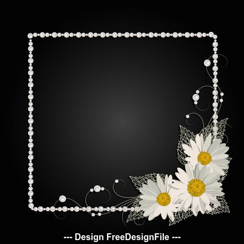 Dark background white border frame vector