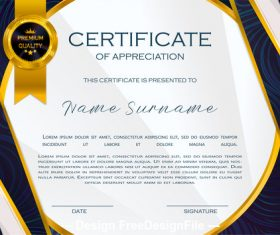 Dark border certificate template vector