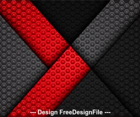 Dark hexagon red arrow background vector