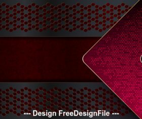 Dark red arrow metal background vector