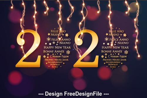Dark red background golden 2020 font new year greeting card vector