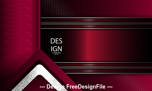 Dark red metal background vector