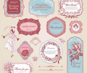 Decorative label vector