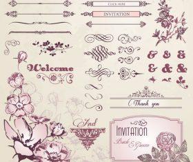Decorative pattern label vector