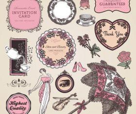 Decorative vintage label vector