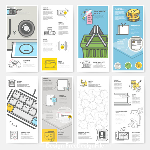 Design brochure cover template vector